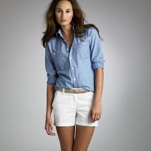 J. CREW 5 Chino Off White Cotton Shorts 4 Pockets